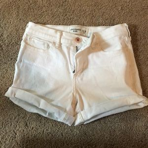 Abercrombie White Jean Shorts